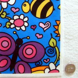 PurpleIbis.com Happy Garden Fabric - actual photo