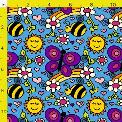 PurpleIbis.com Happy Garden Fabric