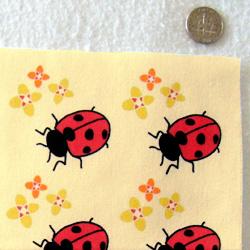PurpleIbis.com Ladybird fabric - actual photo