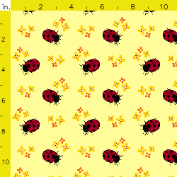 PurpleIbis.com Ladybird fabric